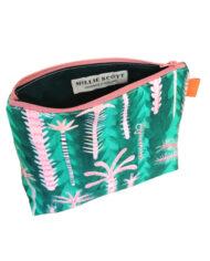 Palm Tree Make up Bag Inside